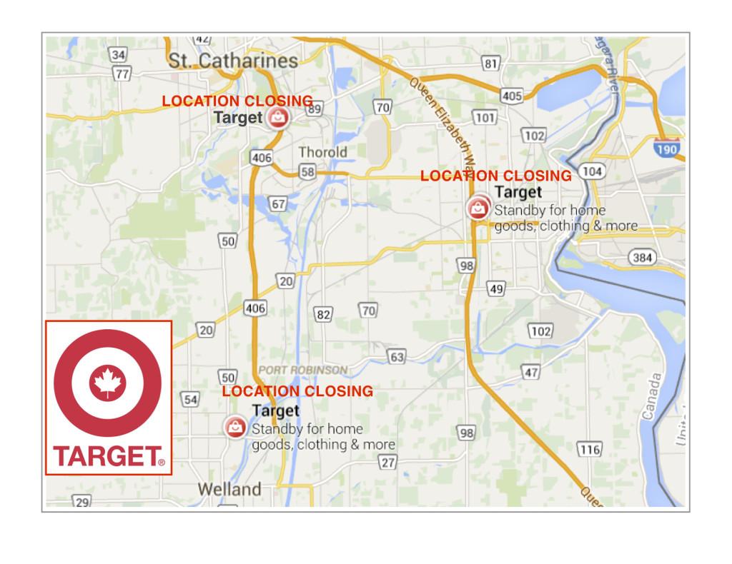 TARGET Niagara Locations closing